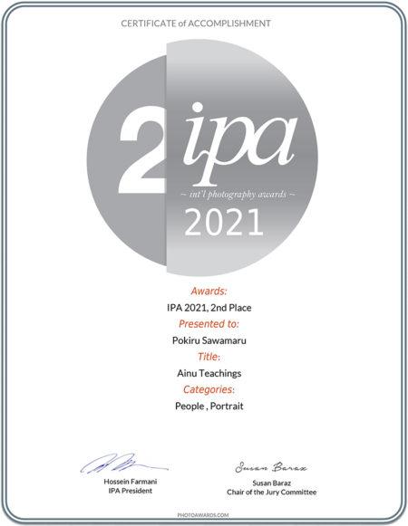 沢丸が【International Photography Awards(IPA) 2021】2nd Place受賞、Honorable Mention4作品受賞🇺🇸
